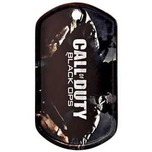A custom color printed dog tag we made for the video game Call of Duty. They came inside the video game when it is purchased. It was one of our favorite custom dog tags we did for a corporate company.